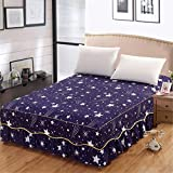 AMZLUCKY - 150x200x45cm Polyester Flower Elastic Bed Skirt Without Bed Surface Bed Apron Bedspread Lace Bed Skirt