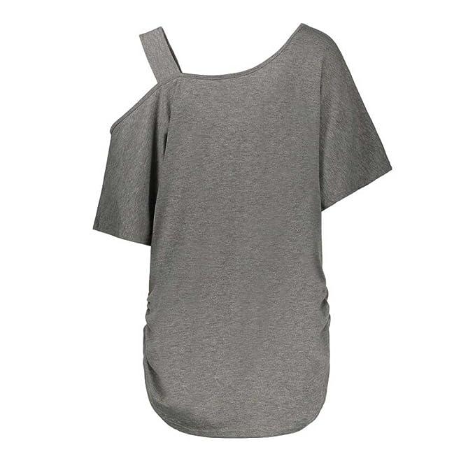 Xinantime_Blusa de mujer Camisetas Mujer Verano Elegante ...