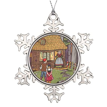 herrir xmas trees decorated vintage fairy tale hansel and gretel by hauman special christmas snowflake ornaments
