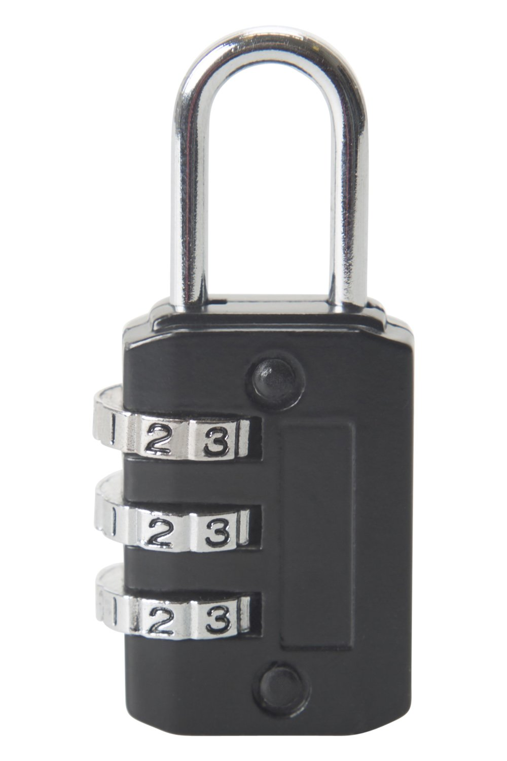 Mountain Warehouse Three Dial Combination Padlock - Durable Door Lock Black 022323005001