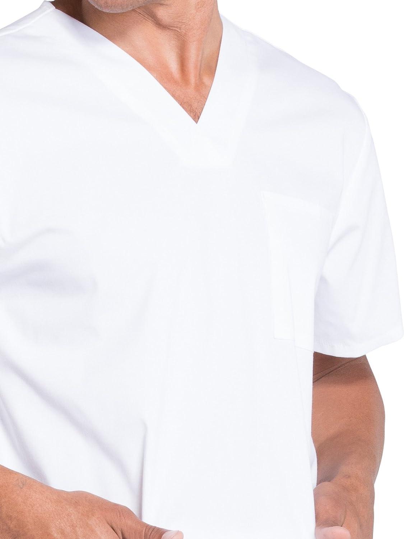 CHEROKEE WW Professionals Mens V-Neck Scrub Top WW695 4XL White