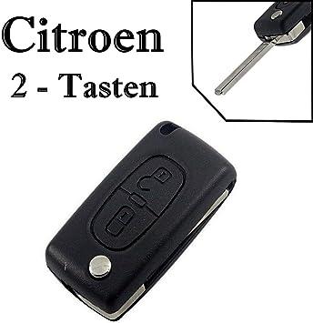 Carcasa para mando a distancia de 2 botones para llave de coche