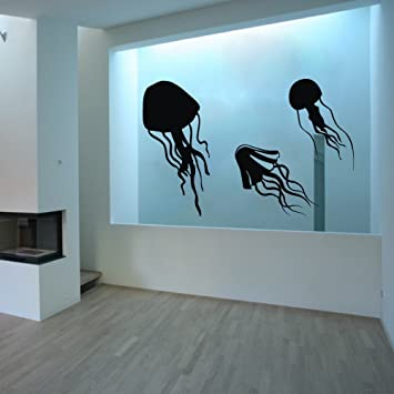 MairGwall Qualle Vinyl Tentakeln Wand Aufkleber Home Aquarium ...