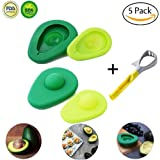 Avocado Saver and Holder with Free Gift 5-in-1 Avocado Slicer,Silicone Huggers Food Avocado Fresh Keeper Storage Cover,Avocado Tool Set of 5