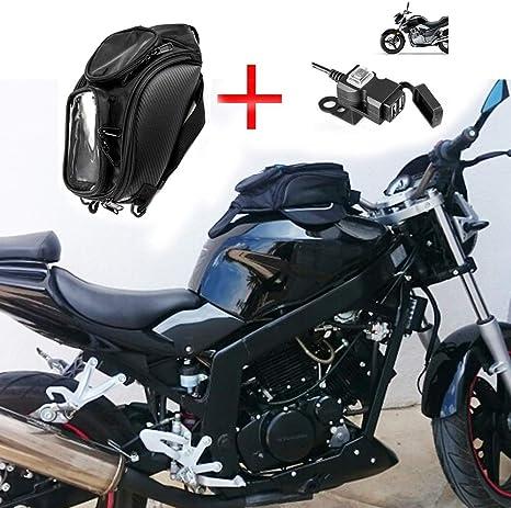 Motorrad Tankrucksack Wasserdichtes Oxford Magnetische Satteltaschen Reise Werkzeug Gepäckstück Mit Usb Ladegerät Auto