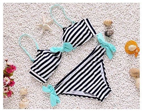 XLHGG Trajes de baño de las mujeres vendaje raya Bikini Set Beach
