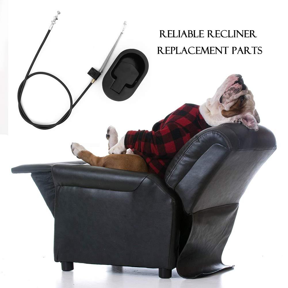 Dawa - Tirador Universal reclinable con Cable, Piezas de Repuesto reclinables, Mango de liberación para sofá