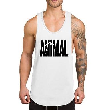 48d9da123767b YeeHoo Hombre Animal Camisetas Sin Manga Tirantes de Deportivo Gimnasio  Fitness Chaleco Tank Top 4 Colores  Amazon.es  Ropa y accesorios