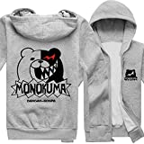 Rain's Pan Anime Danganronpa Monokuma Cosplay Costume Thick Fleece Hoodies Sweatshirts Coat Outwear Teens (US M=Asia XL)