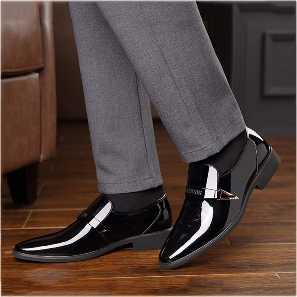 HhGold Mens Mens Mens Mode Business schuhe, Schnürsenkel, Spitzen Schuhe, Spitze Zehen Glänzend Flache Lederkleider Schuhe, Hochzeit Casual Party,schwarz,39 (Farbe   Wie Gezeigt, Größe   Einheitsgröße) bababd
