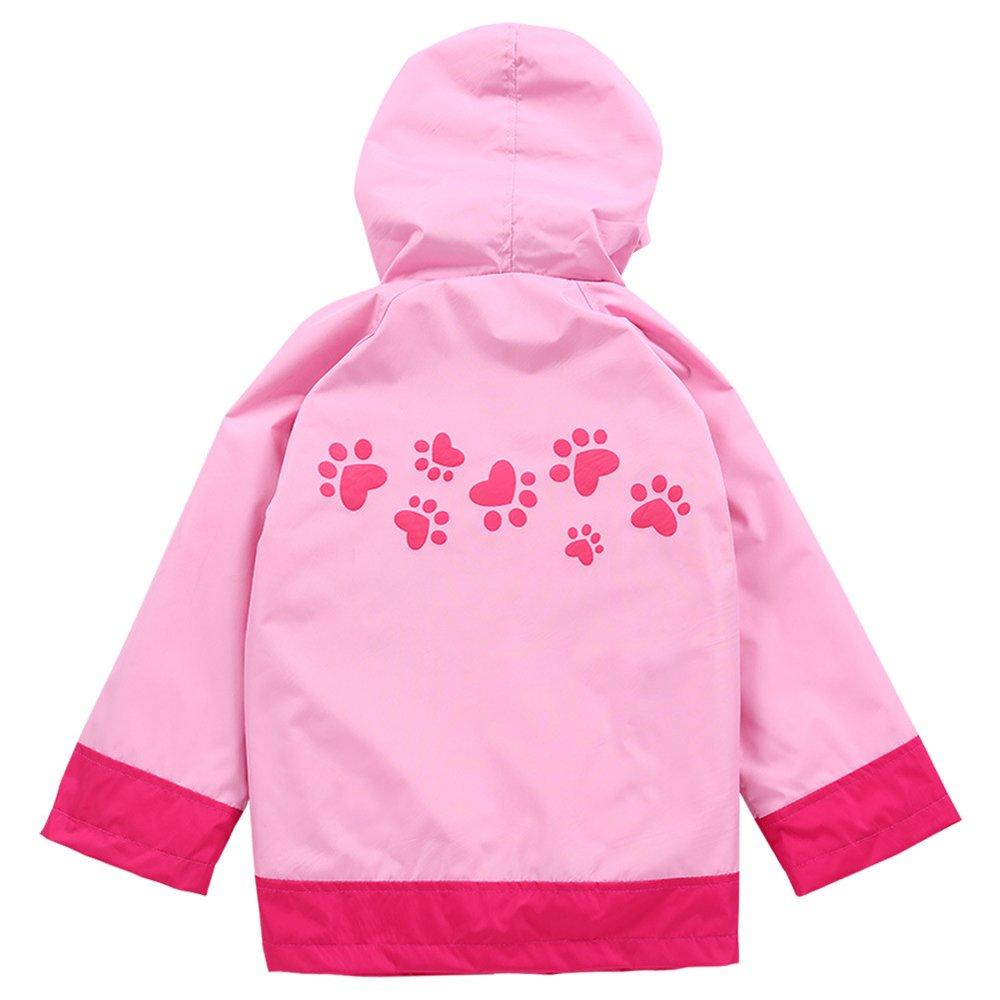 c41ebb571 Conjunto impermeable de niño y niña Pink Cat Cartoon Chaqueta con capucha  Chubasquero Ropa para niños Chubasquero verde Ropa para niños Chubasquero  ...