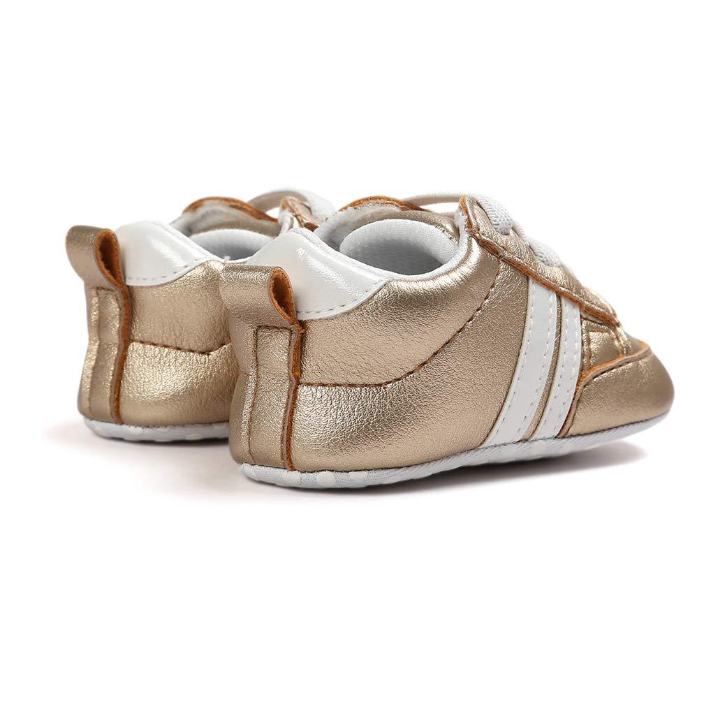 Zapatos de beb/é Calzado Deportivo de Cuero Antideslizante Inferior Suave para ni/ños peque/ños Infantiles Primeros Pasos