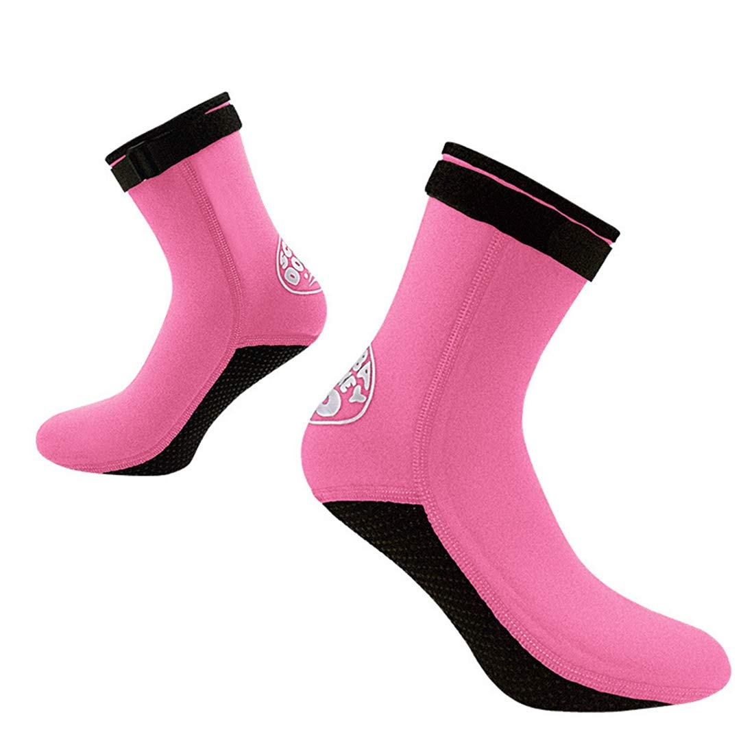 Oraunent Neoprene Socks Snorkeling Beach Socks for Water Sports Diving Swimming Fishing Black XS