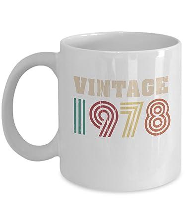Amazon Com Vintage 1978 Year Retro Style Coffee Tea Gift Mug