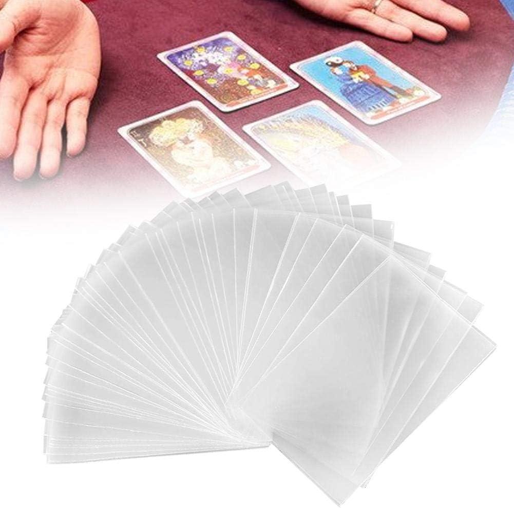 Luckyx Lot de 100 prot/ège-cartes pour cartes Pok/émon MTG Poker jeux de soci/ét/é 6,5 x 9 cm. etc Exploding Kittens cartes contre lHumanit/é