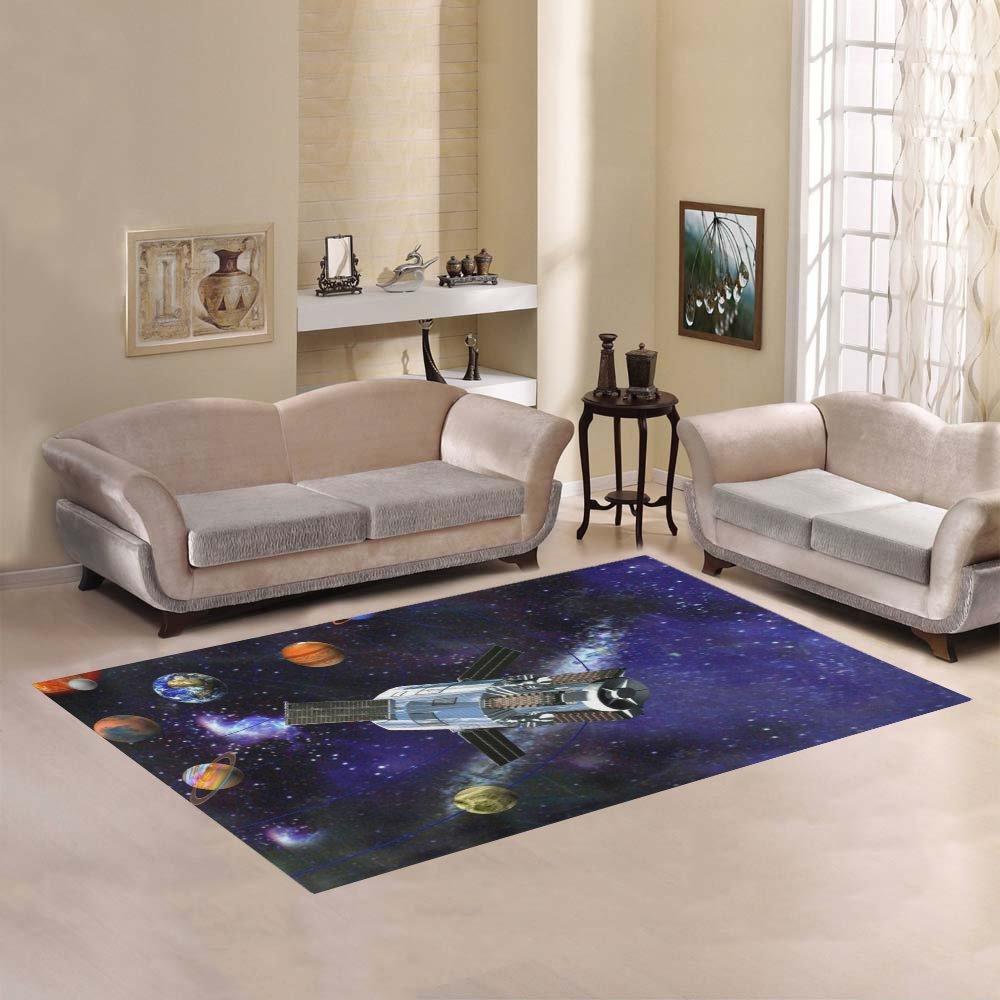 JC-Dress Area Rug Solar System Modern Carpet 7'x5'