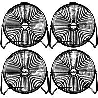 Air King 18-Inch 1/6-HP Industrial Floor Fan (4 Pack)