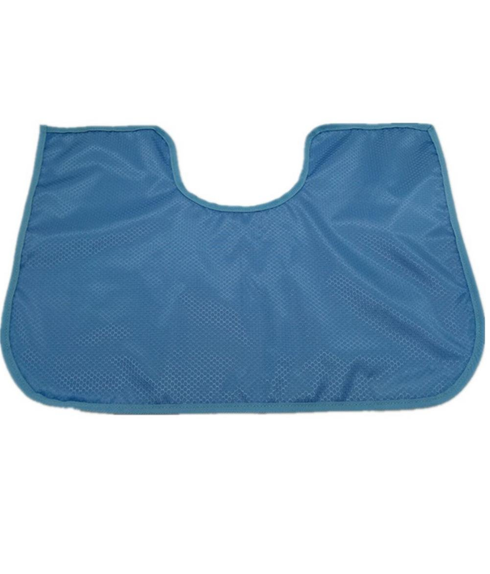 LUCKYYAN Adult Bib Protector Waterproof Backing 60×40cm , blue