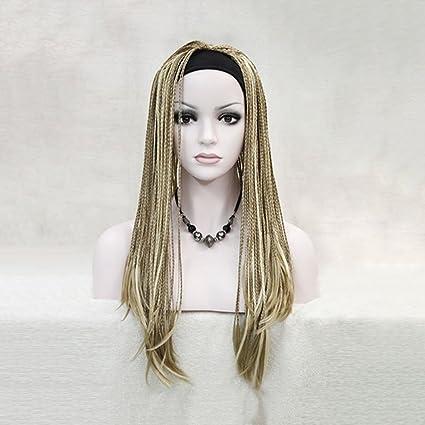Marrón pintada a mano peluca de peluca golpeada a mano pinzas africanas (Color : Brown