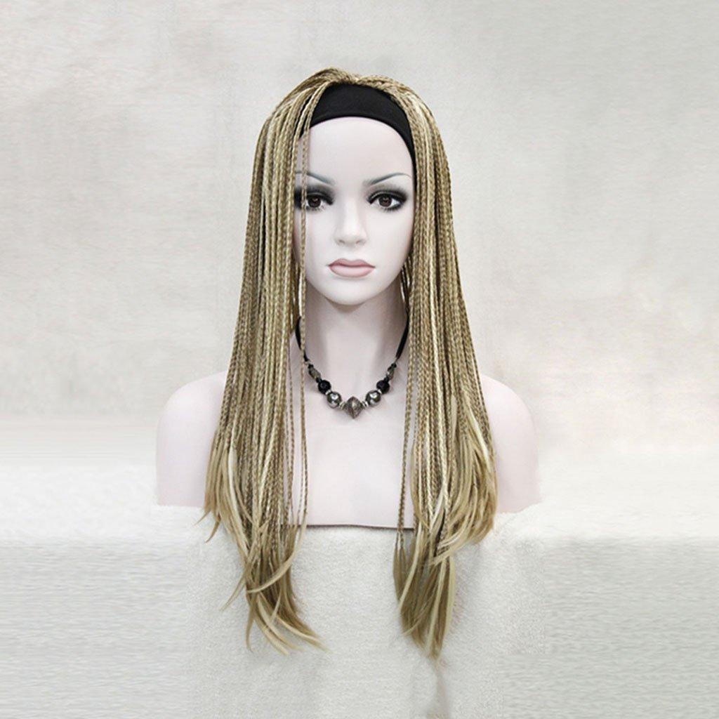 Gai Hua Home Brown hand-painted hand-knocked wig wig African tweezers (Color : Brown)