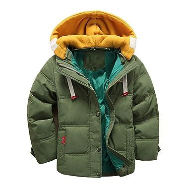 d3673c836 Amazon.com  Minions Boutique Boys Winter Coat Kids New Hooded Jacket ...