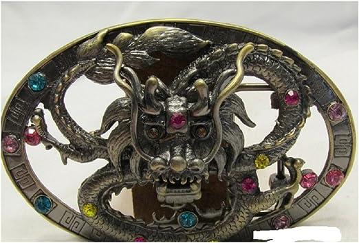 Vintage Rare Double Phoenix Type Dragon Belt Buckle