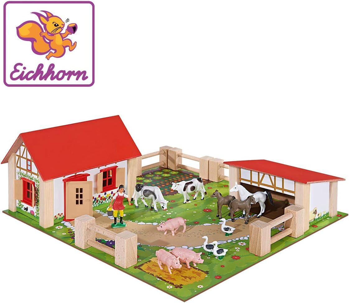 Eichhorn - Set de juego Little Farm, 21 piezas (100004304), 39x36 cm