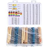 Chengu 1460 Pieces Resistor Kit 73 Values 1%, 1 Ohm 1 M Ohm 1/4 W Metal Film Resistors Assortment for DIY and Experiments
