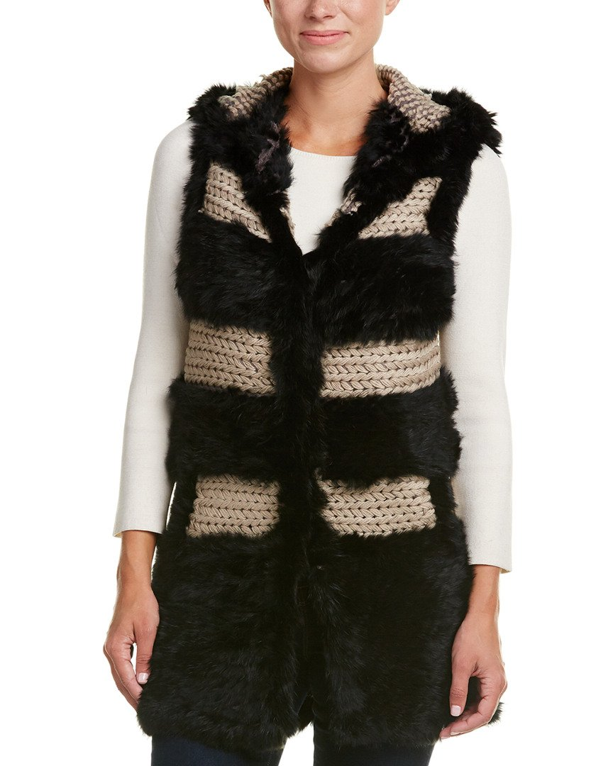 Love Token Womens Dion Vest, L, Black
