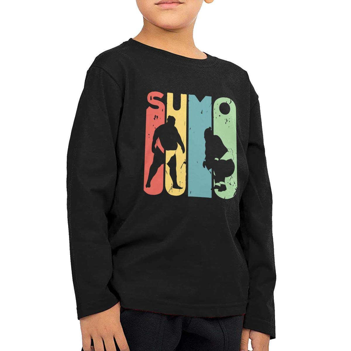 Baby Girls Kids Sumo Vintage Printed Long Sleeve 100/% Cotton Infants T-Shirts