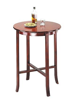 Charming ACME 07195 Beautiful Oak Finish Wood Round Pub Bar Table