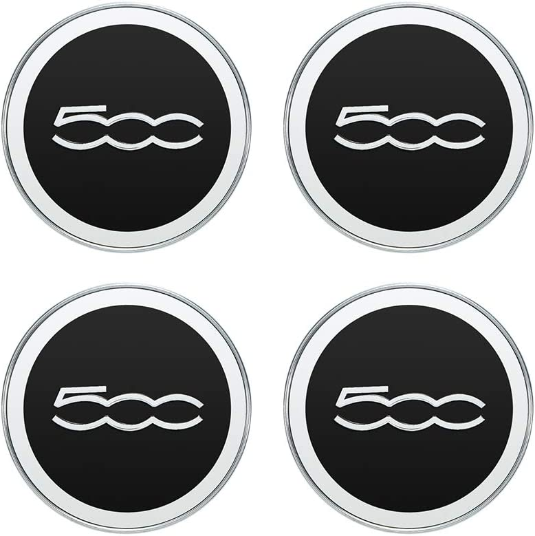 Kshzmoto 60mm Car Wheel Center Caps Hub Tyre Rim Hub Cap Cover ABS Black 4PCS