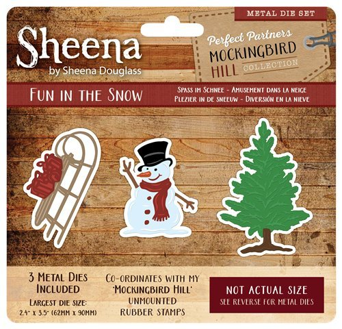 Sheena Douglass Spottdrossel Hill Metall Sterben – Fun in The Snow, Silber Crafter' s Companion SD-PPMD-MH-FUN