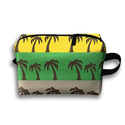 d0de5d39c0c1 Coconut Tree Icons Vintage Retro Makeup Zipper Bags Storage Bags Portable  Ladies Travel Bag 60%