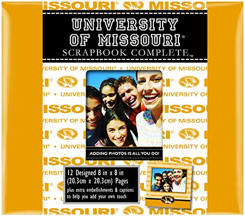 (C.R. Gibson Scrapbook Complete Kit, Album In School Colors, Officialy Licensed NCAA, Measures 8