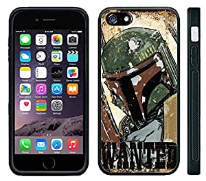 Apple iPhone 6 Black Rubber Silicone Case - Boba Fett Star Wars Clone Wars Wanted Poster