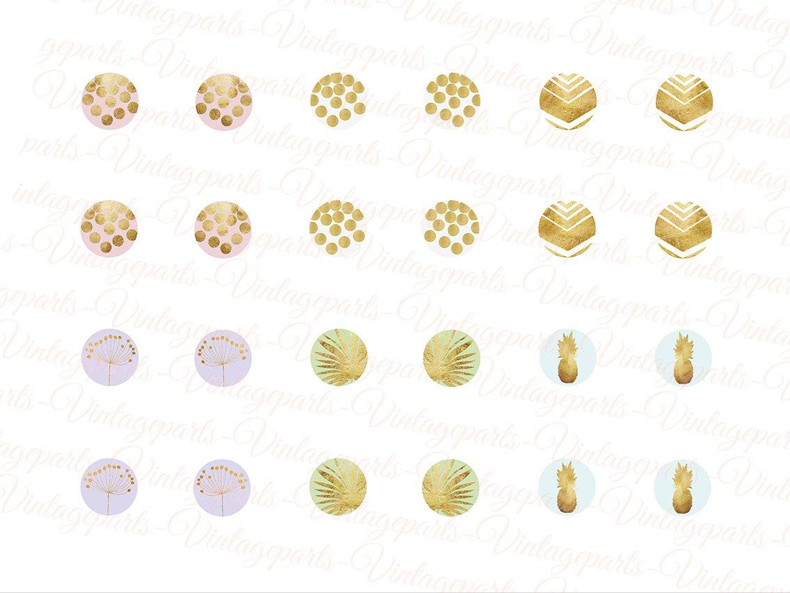 """Motivbogen /""""Goldregen/"""" für Cabochons verschiedener Größen"""