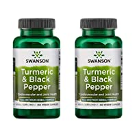 Swanson Full Spectrum Turmeric & Black Pepper 60 Veg Caps 2 Pack