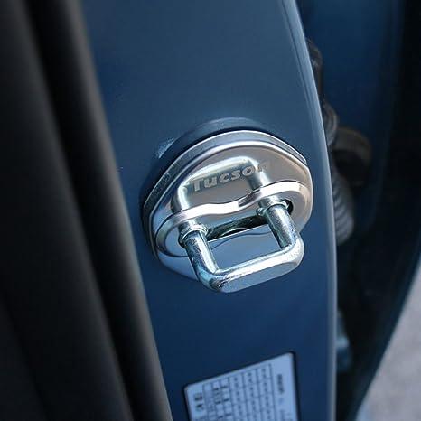 Puerta de acero inoxidable cierre hebilla proteger tapa para Hyundai Tucson 2015 – 2017 accesorios