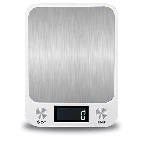 Báscula De Cocina Digital Báscula De Alimentos Multifunción Con Pantalla LCD Blanco Y Negro Plateado Dorado