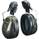 3M PELTOR Optime II Earmuffs, 30 dB, Green, Helmet Mounted, H520P3E-410-GQ