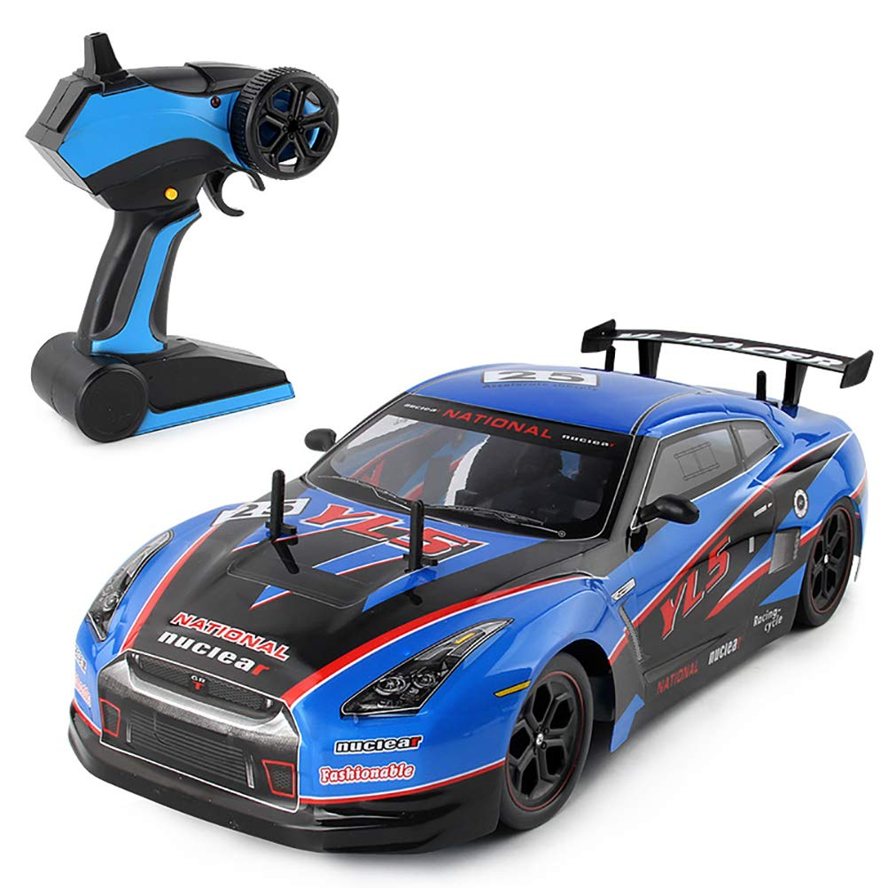YRE 2,4 GHz Fernbedienung Auto 1:10 Ladung elektrische Zwei-Antriebswagen, professionelle Wettbewerb Hochgeschwindigkeits-Auto-Spielzeugauto, geben Kindern, Blau