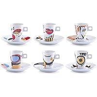 Zeller 26505 Servicio de Café Expreso, Porcelana, 30x15x8