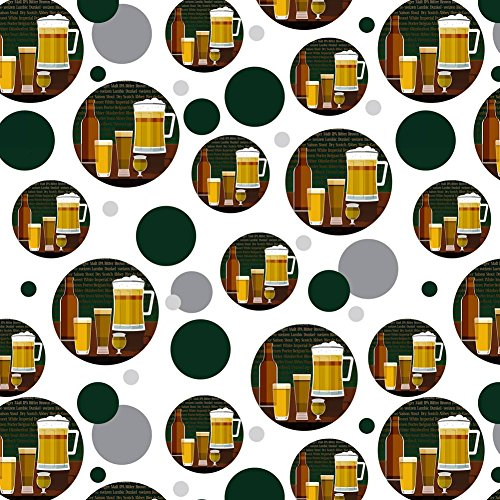 Premium Gift Wrap Wrapping Paper Roll Pattern - Food Drink Bacon Coffee - Beer Glasses Ale Pilsner Stout Lager (Special Lager)