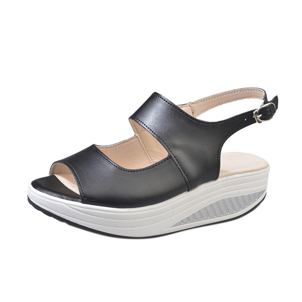 Sneakers con Zeppa Sportive Eleganti, Bambine e Ragazze 2018 Vintage Sandali Estivi Soft Leather Corsa Camminata Calcetto Scarpette Indoor Outdoor