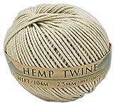 341 Feet 100% Hemp Twine 2.5mm