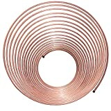 50 ft 1/4 in Copper-Nickel Coil Tubing - Brake, Fuel or Transmission Line - (Universal Size)
