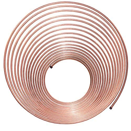 50 ft 1/4 in Brake Line Copper-Nickel Tubing Coil (Universal Size) 4LifetimeLinesTM