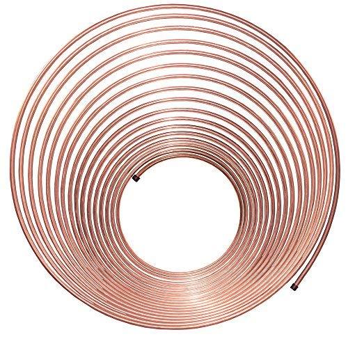 50 ft 1/4 in Copper-Nickel Coil Tubing - Brake, Fuel or Transmission Line - (Universal Size) Lifetimelines