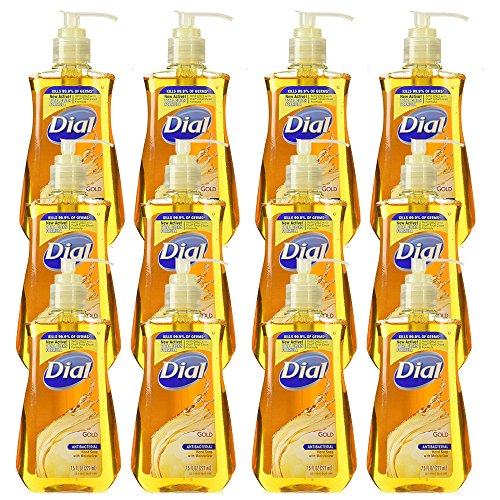 Dial Moisturizer Liquid (Dial Gold with Moisturizer Antibacterial Hand Soap 7.5 oz (Pack of 12))